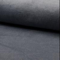 Velours grosses côtes stretch dusty blue 20 x 140 cm