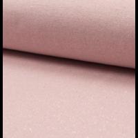 Bord côte pailleté rose et argent 20 x 65 cm