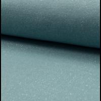 Bord côte pailleté dusty mint et argent 20 x 65 cm