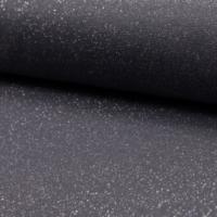 Bord côte pailleté gris foncé et argent 20 x 65 cm