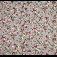 Sweat léger fleurs fond gris chiné 20 x 140 cm
