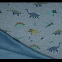 Molleton dinosaures envers minky 20 x 140 cm