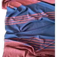 Jersey épais bordeaux et marine 1m94 x 130 cm