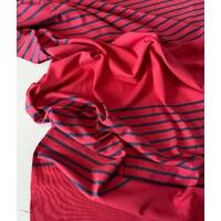 """Lot de 2 panneaux de jersey épais rouge """"délavé"""" et marine chiné de 68 x 130 soit 1m36 x 130 cm"""