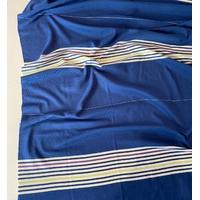 Lot de 3 panneaux de jersey épais bleu rayé multico de 45 x 125 soit 1m35 x 125 cm