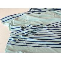 Lot de 3 panneaux de jersey fin menthe et bleu 64 x 180 cm soit 1m92 x 180 cm