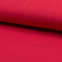 Double gaze UNIE coloris rouge 20 x 135 cm