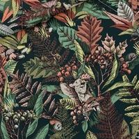 Toile de coton GABARDINE Autumn Joy coloris Forest River 20 x 150 cm
