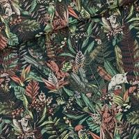 Sergé de coton léger Automn Joy coloris  Flower Field coloris Forest River 20 x 140 cm