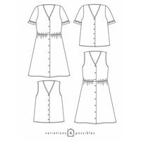 Patron blouse ou robe Zoe (34-52)