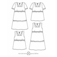 Patron blouse ou robe Astrée (34-52)
