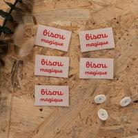 """Étiquettes tissées ©ikatee - 5 étiquettes """"Bisou magique"""""""