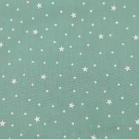 Coupon de tissu Première Etoile IMPRIME coloris menthe glaçée 1m x 140 cm