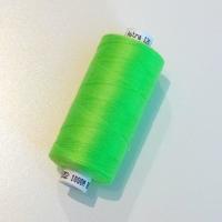 Bobine de fil à coudre vert fluo 1000m