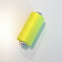Bobine de fil à coudre jaune fluo 1000m
