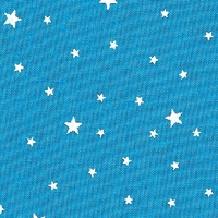 Coupon de tissu Première Etoile IMPRIME coloris blue lagoon 1m x 140 cm