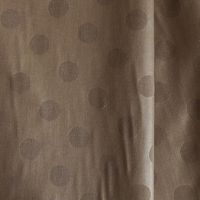 Tissu pois frappés fond taupe