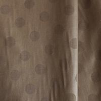 DERNIER COUPON  Tissu pois frappés fond taupe 65 x 140cm