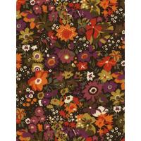 Liberty Manuela orange et aubergine coloris A 20x137 cm