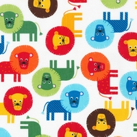 Tissu Lions coloris Primary 20x110 cm