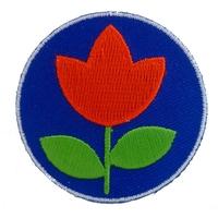 Thermocollant fleur fond bleu