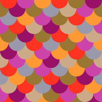 Tissu Ecaille coloris Néon infusé par Aime comme Marie 20x140 cm