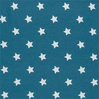 Toile enduite étoiles fond bleu canard 20 x 140 cm