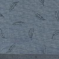Léger comme une plume, chambray gris bleu, 20 x 140 cm