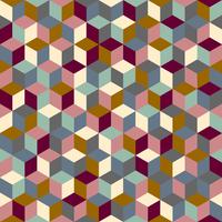 Tissu cubes coloris Quai de Seine par Aime comme Marie, 20x140 cm