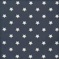 Toile enduite étoiles fond midnight blue 20 x 140 cm