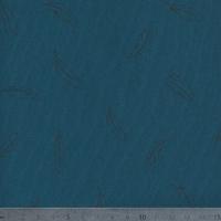 Léger comme une plume, jersey 100% coton bleu pétrole, 20 x 140 cm