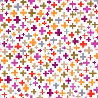 Tissu Croix coloris Néon infusé par Aime comme Marie, 20x140 cm