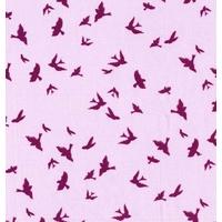 Tissu Waterfront park Flight hirondelles coloris iris 20 x 110 cm