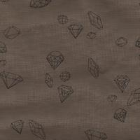 DERNIER COUPON Ma rivière de diamants polycoton noix 1m50 x 140 cm