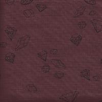 Coupon de poly/coton Ma rivière de diamants lie de vin, 1m50 x 140 cm