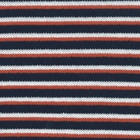 Maille polo fines rayures marine rouge blanc 50 x 180 cm