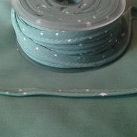 Passepoil Première Etoile imprimé menthe glacée 1m