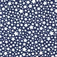 Tissu Chic Marine Starlettes fond marine 20 x 110 cm
