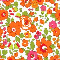 DERNIER COUPON Liberty Betsy orange 78 x 137 cm