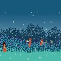 Tissu Frise Summer night coloris Twillight 20 x 110 cm