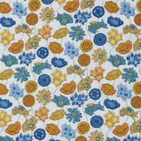 Liberty Lydia moutarde et bleu coloris D 20 x 137 cm
