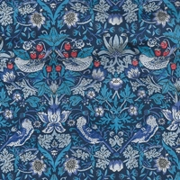 Liberty Strawberry Thief bleu 20 x 137 cm