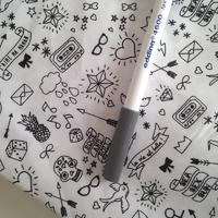 Feutre pour textile pointe 1mm coloris gris