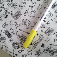 Feutre pour textile pointe 1mm coloris jaune fluo