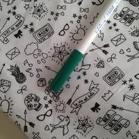 Feutre pour textile pointe 1mm coloris vert foncé