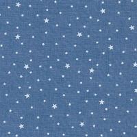 Coupon de tissu Première Etoile IMPRIME coloris denim 1m x 140 cm