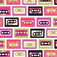 Tissu Beatbox cassettes 20 x 110 cm