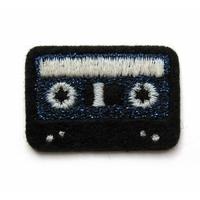 Thermocollant Casette bleue paillettes et noir