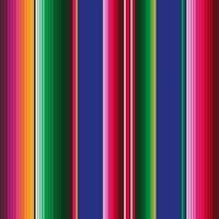 Toile cirée Rayures Viva Mexico 20 x 140 cm