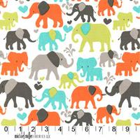 DERNIER COUPON Tissu Elephant walk coloris dirt 70 x 110 cm